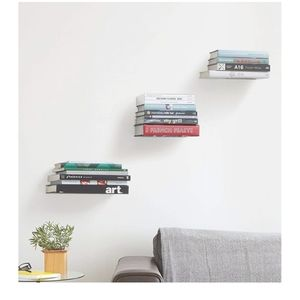 Umbra Conceal Floating Bookshelf, Large, Silver, S